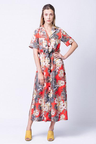 Digital Reeta Midi Shirt Dress Sewing Pattern | Shop | Oliver + S
