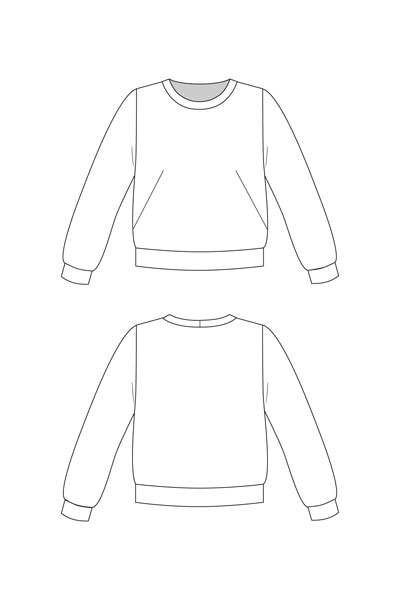 Digital Sloane Sweatshirt Sewing Pattern | Shop | Oliver + S