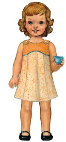 digital tea party sundress + playsuit  sewing pattern