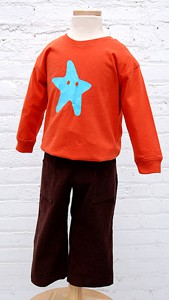 digital sandbox pants + starfish stencil sewing pattern