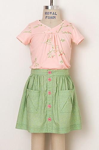 Digital Hopscotch Skirt Knit Top Dress Sewing Pattern Shop