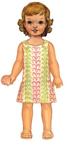 digital seashore sundress sewing pattern