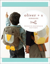 digital penguin backpack sewing pattern