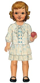 digital apple-picking dress sewing pattern