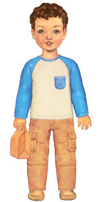 digital field trip cargo pants + raglan t-shirt sewing pattern