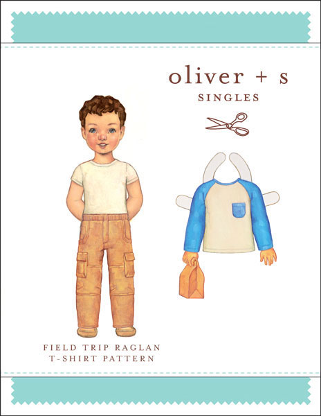 Digital Field Trip Raglan T Shirt Sewing Pattern Shop Oliver S
