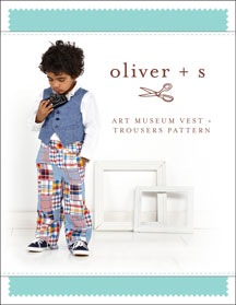 art museum vest + trousers sewing pattern