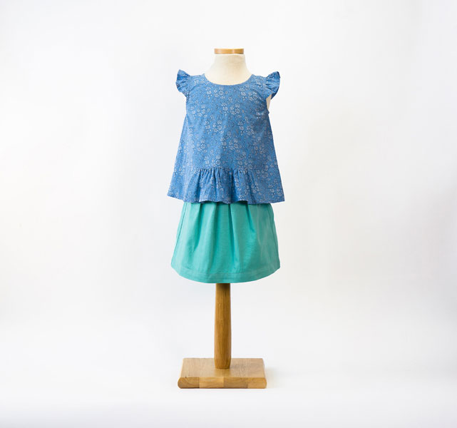 Digital Butterfly Blouse + Skirt Sewing Pattern | Shop | Oliver + S