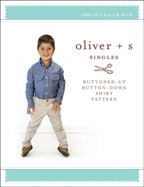 57c063ee17 Digital Buttoned-up Button-down Shirt Sewing Pattern | Shop | Oliver + S
