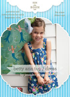 digital betty ann top/dress sewing pattern