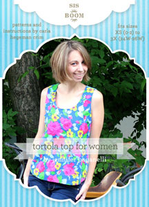 digital tortola tank  sewing pattern