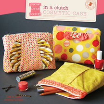digital in a clutch cosmetic case sewing pattern