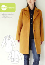digital bamboo straight cut coat sewing pattern