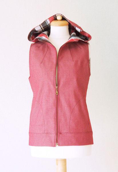 Digital Dropje Hooded Vest Sewing Pattern | Shop | Oliver + S
