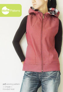 digital dropje hooded vest sewing pattern