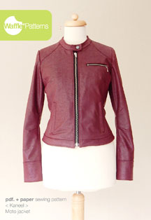 digital kaneel moto jacket sewing pattern