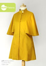 digital lemon pie cape coat sewing pattern