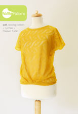 digital lychee pleated t-shirt sewing pattern