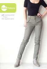 digital pinda slim tapered pants sewing pattern