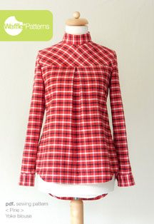 digital pine yoke blouse sewing pattern