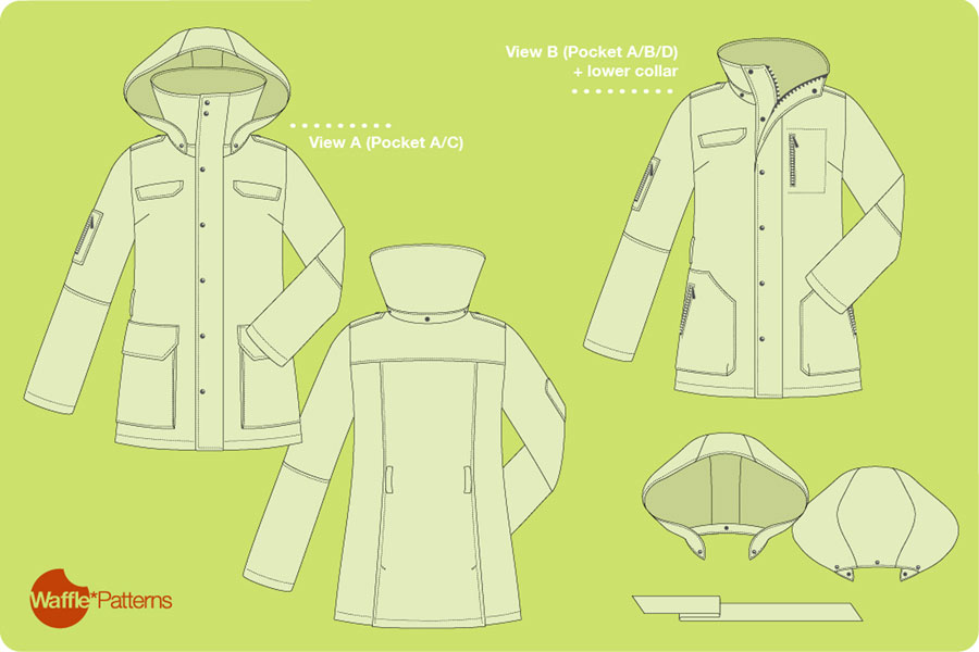 Digital Tosti Utility Jacket Sewing Pattern | Shop | Oliver + S
