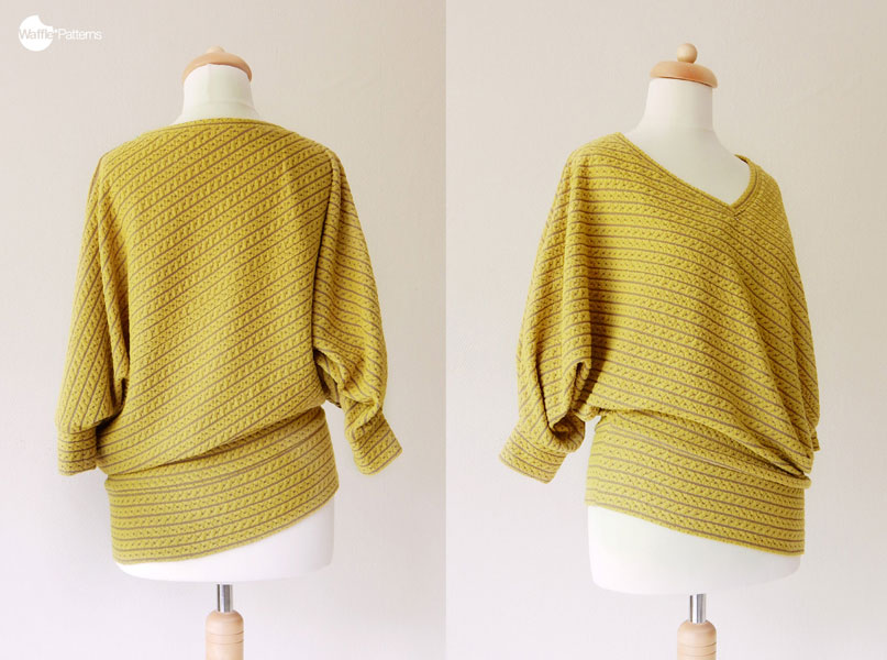Digital Vanilla Diagonal Knit Top Sewing Pattern | Shop | Oliver + S