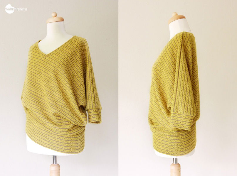 Digital Vanilla Diagonal Knit Top Sewing Pattern Shop Oliver S