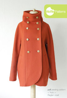 digital yuzu raglan coat sewing pattern